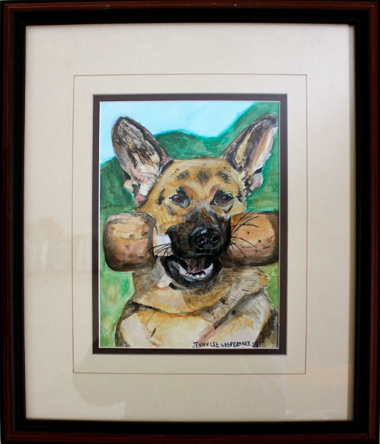 dog painting - german shepard
